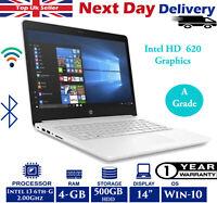 "HP 14-bp060sa 14"" Laptop Intel 6th-Gen i3 2Ghz 4GB RAM 500GB HDD Win 10 A Grade"