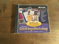 Microsoft Greetings Workshop Hallmark Connections CD -- 1996