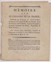 mémoire sur le Kataster von der Frankreich F. Boden des Gehirn auf