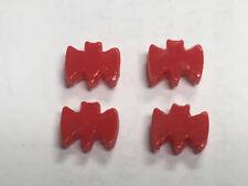BZ Batmobile Slot Car Red Wheel Bats 4 piece set 1/24 1/25 scale