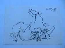 Pablo Picasso Toros Y Toreros 1961 B&W Lithograph Print Horse Limited Edition