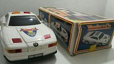 VINTAGE POLICE TURBO CAR TOY 850i  DK-858 DWM BATTERY OPERATED ORIG. BOX TAIWAN