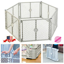 FOLDABLE LARGE PANEL BABY KIDS Toddler Safety Play Yard Crib Fence Pet Cage New