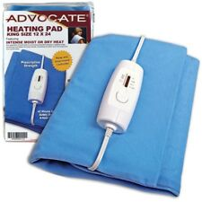 """Advocate Extra Large King Size Heating Pad 12 x 24"""" Moist & Dry Heat"""