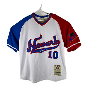 Newark Eagles #10 Negro Baseball League Samuel & Grace Mens Sz 2XL White Jersey