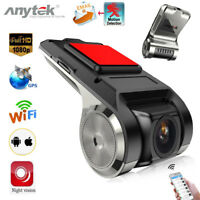 Anytek X28 1080P FHD Registratore videocamera per auto WiFi GPS ADAS Dash Cam TF