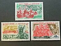 St Pierre & Miquelon- 1969, post stamps with ships and boats, tropical stamps