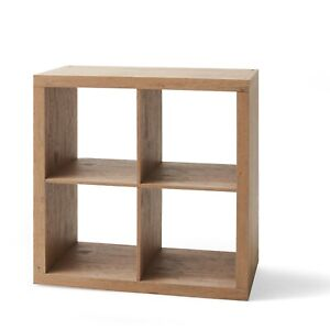 Cube Storage Bookshelves 4 Cube Square Storage Organizer Multiple Finish Natural