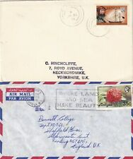 PP656  Antigua + Barbuda 12 different stamped covers / postcards; 1970 - 2009