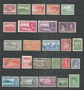 NEWFOUNDLAND  VARIOUS MINT & USED ISSUES   1908 to 1941     CV $41.20