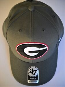 GEORGIA UGA BULLDOGS ADULT ADJUSTABLE CHARCOAL GRAY CAP HAT WITH STITCHED G LOGO