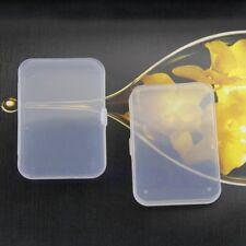Plástico transparente caja de almacenaje contenedor colección de tapa