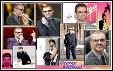George Michael, Signed, Collage Cotton Canvas Image. Limited Edition (GM-3)