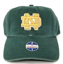 Notre Dame Fighting Irish Fitted Baseball Hat Cap, Size Small, Green Cotton, NWT