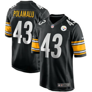 Brand New NFL Troy Polamalu Pittsburgh Steelers Nike Game Retired Player Jersey