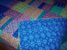 King Misha Quilt and Shams Reversible New 96x105 All Cotton
