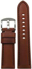 24mm Panatime Rou HZ Vintage Leather Watch Band w Black Stitching 24/22 125/75