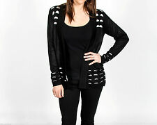 Hip Length Thin Spotted Jumpers & Cardigans for Women