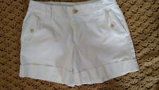 Banana Republic Women's Shorts Size 0 White Martin Fit Cuffed