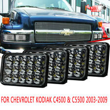 "4pcs 4x6"" LED Headlights For Chevrolet Kodiak C4500 & C5500 2003-2009 Hi/Lo Beam"