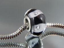SILVER CORE MURANO GLASS BEAD FOR EUROPEAN STYLE CHARM BRACELETS (MSB 460)