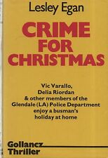 "LESLEY EGAN CRIME NOVEL - ""CRIME FOR CHRISTMAS"" - 1st UK HB/DW - GOLLANCZ (1984)"