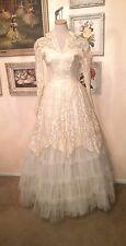 True Vintage 40's/50's Wedding Dress With Fred Perlberg Crinoline Pettiecoat