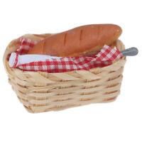 1:12 Dollhouse Miniature Milk Bread in Basket Kitchen Bakery gt