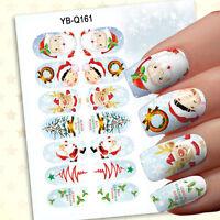 New 1 Set 14pcs Christmas Design 3D Nail Art Stickers Decals Nail Decoration