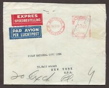 BELGIUM 1956 & 1964 TWO SPECIAL DELIVERY EXPRESS METER MAIL COVERS TO USA