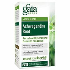 GAIA HERBS SINGLE HERBS ASHWAGANDHA ROOT HEALTHY IMMUNE & STRESS RESPONSE