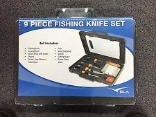 Fishing Knife Set - 9 Piece  BLA 394786 Marine Boating Fishing
