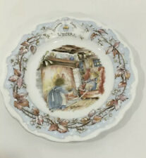 "Royal Doulton Brambly Hedge 8"" Winter Dinner Plate Jill Barklem 1982"