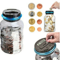 Digital Coin Bank Savings Jar Automatic Coin Counter Piggy Bank Money Saving Box
