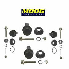 For Set of 2 Front Lower & Upper Ball Joints Moog For GMC International Plymouth