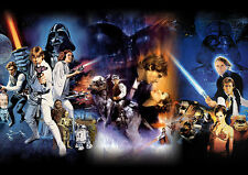 Star Wars Episode IV-VI Film Poster DIN A1 Plakat - Wandbild - 59,4 x 84,1 cm