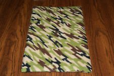 New Camo Print #3 Fleece Dog Cat Pet Carrier Blanket / Pad Free S/H! Support Bcr