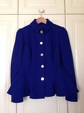 TED BAKER Bracti blue peplum jacket dress coat full skirt fit & flare asos 1 8