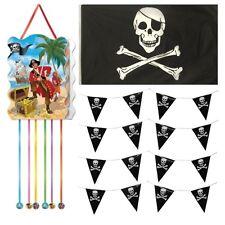 infantil pirata Pack fiesta cumpleaños Juego - Piñata Guirnalda & JOLLY ROGER