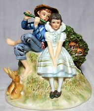 "Gortham Norman Rockwell ""Sweet Song So Young� Bone China Figurine"