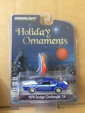 GREENLIGHT DIECAST - Holiday Ornaments - 1970 Dodge Challenger T/A - 1:64