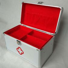 Large Aluminium First Aid Kit Metal Box Case Medicine Storage Tool Box Organizer