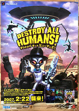 Destroy All Humans RARE PS2 51.5 cm x 73 Japanese Promo Poster