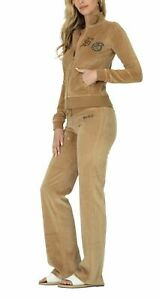 BCBG MAXAZRIA, Stone Detail Cross Zip up Jacket & Pant Set BCV11089J/P Earth