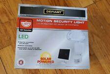 New Defiant 180-Degree Solar Powered Motion Led Security Light, backup battery