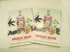 Lot of Two LIMITED EDITION Absolut Miami Vodka recipe booklets. Nice!!!