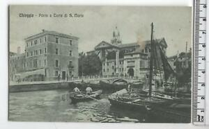 Cartolina Veneto-Chioggia Ponte e Torre S.Maria-VE 4604