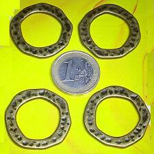 8 Cuentas Fornituras 31mm T424 Plata Tibetana Bisuteria Beads Perline Contas