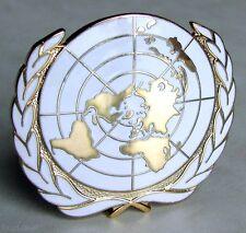 U.N United Nations Peacekeeping  Army Beret HaT Badge