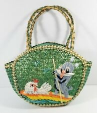 Vintage Woven Mini Bag Purse Plastic Lining Handmade People's Republic Of China